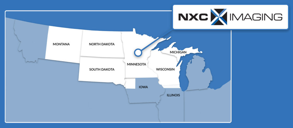 NXC Imaging Coverage Area: Montana, North Dakota, South Dakota, Wisconsin, Upper Michigan, Northern Iowa, Northern Illinois